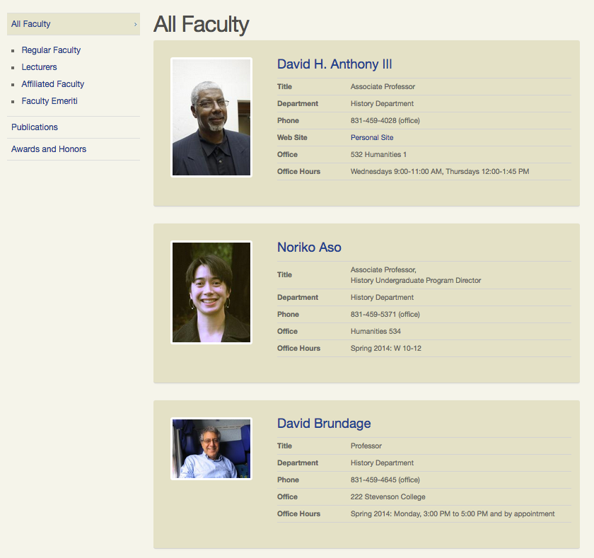 faculty web directory california state university los