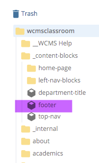 screenshot of content blocks folder highlighted and opened